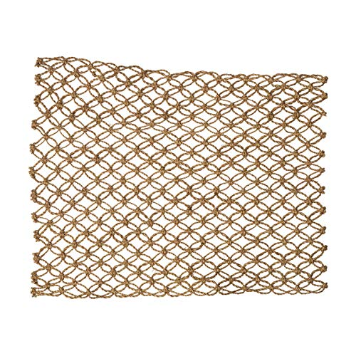 Macrame Mocha Design Natural Abaca Fibers Kitchen or Dining Placemats Set of 4