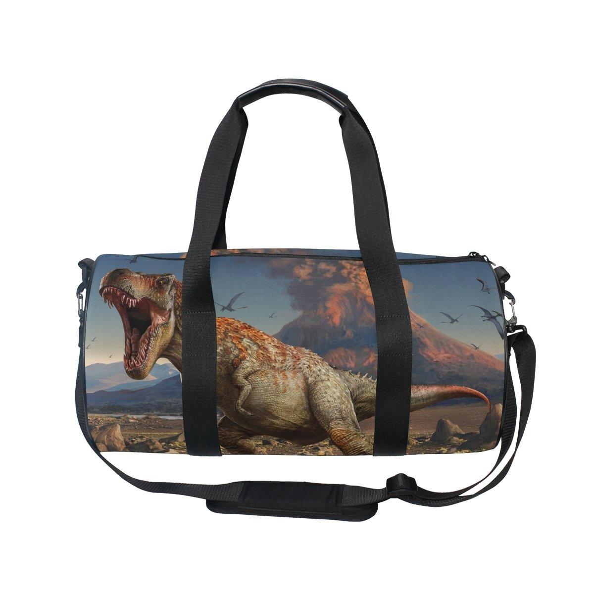 COOSUN Dinosaurio bolsa de lona del hombro de Handy Deportes Gimnasia Bolsas para hombres y mujeres Medio Multicolor: Amazon.es: Equipaje