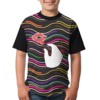 1e255a51680a Amazon.com  Red Lipstick Teen Girls Popular Short Sleeve T-Shirts ...