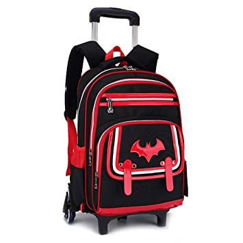 C-Xka Waterproof Wheeled Backpack Cute Cartoon Rolling Backpack Elementary  Students Wheeled Book Bag Primary School Bag Carry-on Luggage Bag for Girls  Boys 387c1788d659f