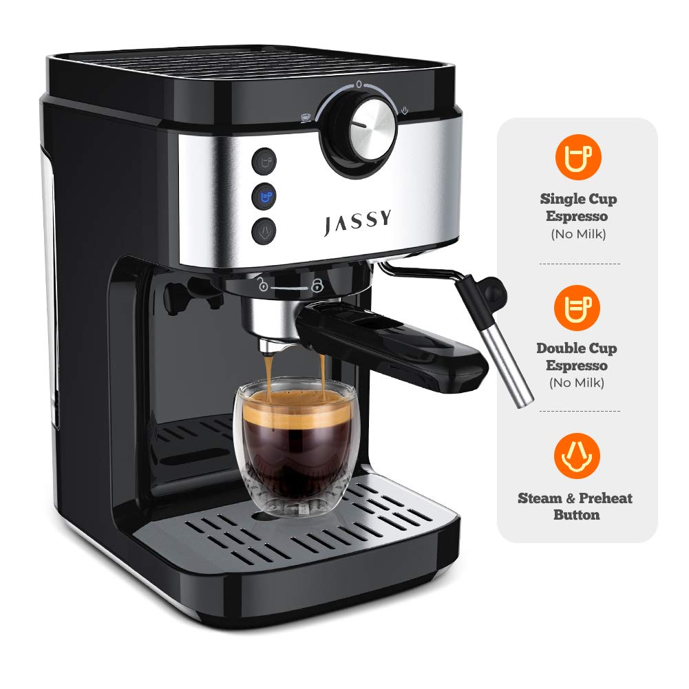 for Cappuccino 19 Bar Italian Pump Espresso Maker With Steam Wand ...