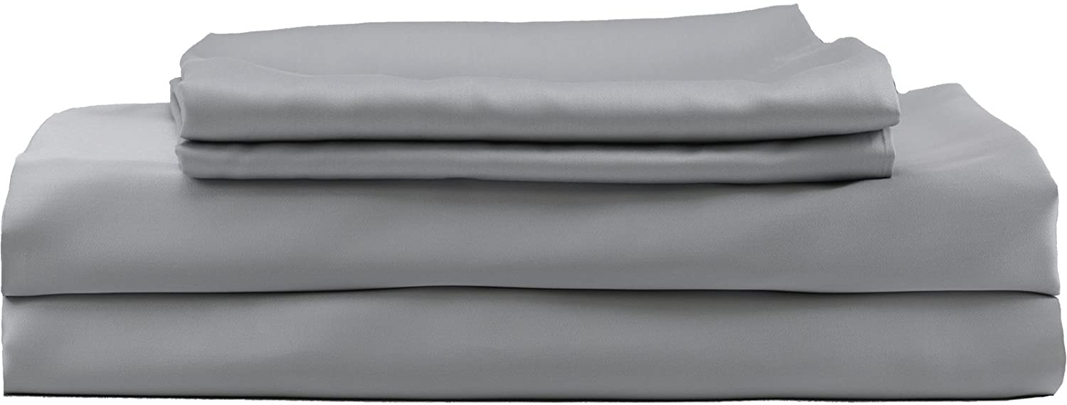 Hotel Sheets Direct 100 Percents Bamboo Bed Sheet Set (Full, Grey) by Hotel Sheets Direct