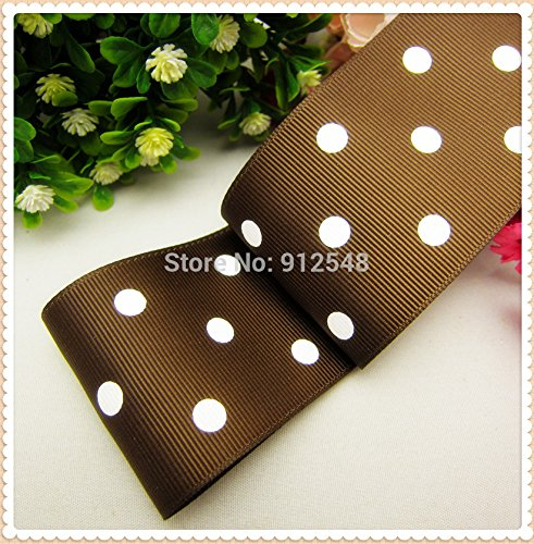 FunnyCraft 10 Yards 2 50Mm Polka Dots Printed Grosgrain Ribbon Handmade Diy Hair Bands Bow Ribbon Material