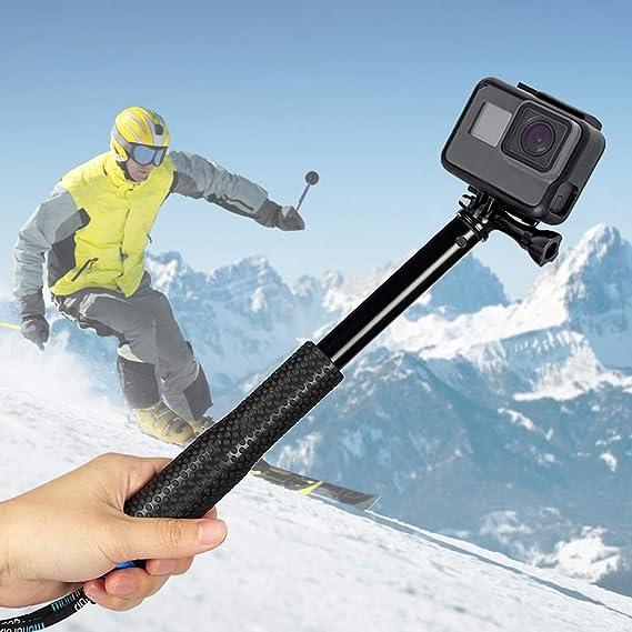 Innoo Tech Selfie Stick für Action Cam, Erweiterbar Self Portrait Wasserdicht Aluminium Selfie Stick Pole Handheld Monopod Po
