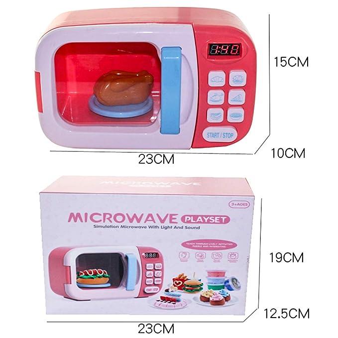 Sunbary microondas Juguete luz Sonido microondas Juguete ...