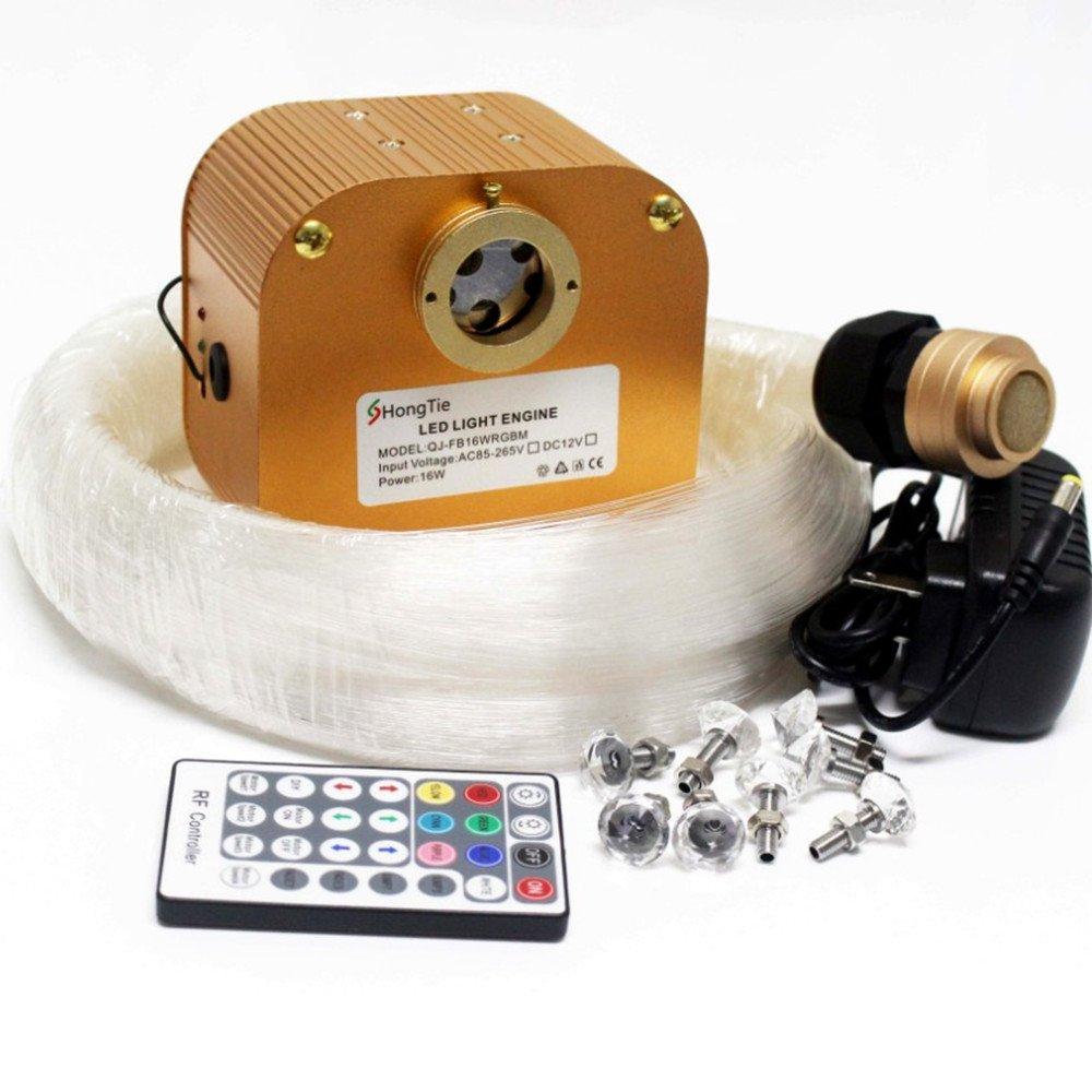 NEW 16W RGBW CREE Twinkle LED Fiber Optic Star Ceiling Lights Kit, Mixed ,400 Strands, 5m(0.75mm300pcs+1.0mm80pcs+1.5mm20pcs)+Crystal by HongTie