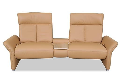 Sofa Couch Leder 3er Sofa Braun Amazonde Küche Haushalt