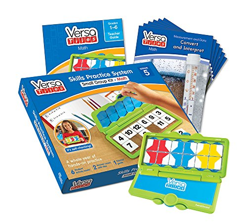 hand2mind VersaTiles Math an Engaging Puzzle Game Kit for Kids (Grade 5+) - Whole Numbers, Decimals, Fractions, Graphing, and Algebraic Thinking | 6 Student Activity Books and 1 Teacher Guide