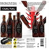 Chalky Talky 36 Reusable Personalized Beer Bottle Adhesive Labels for Home Brewing - Hand Printable Labels Waterproof