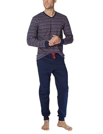d810ac2644e001 Calida Zweiteiliger Schlafanzug Josh Herren Pyjama: Amazon.de: Bekleidung
