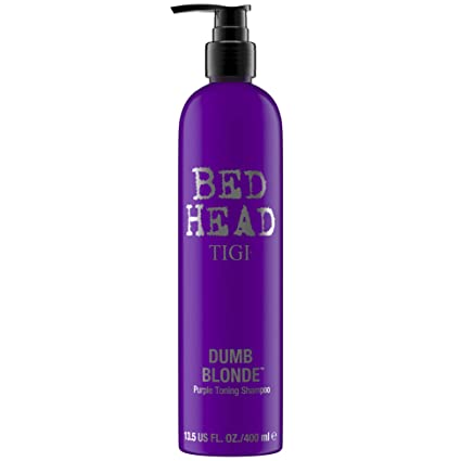 TIGI Bed Head Dumb Blonde Purple Toning Shampoo, 13.5 Ounce best purple shampoos
