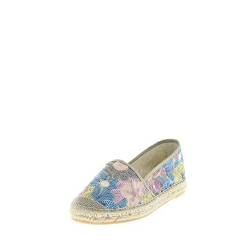 Vidorreta 00700 Blau/Türkis/Rose/Gold - Mocasines de tela para mujer, color rojo, talla 42: Amazon.es: Zapatos y complementos