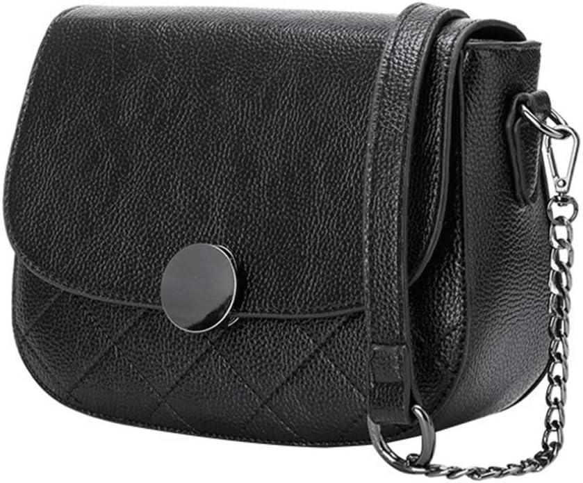 Color : 2#, Size : S DONGLU Handbag Womens Leather Rhombic Shoulder Bag Zipper Lock Messenger Bag