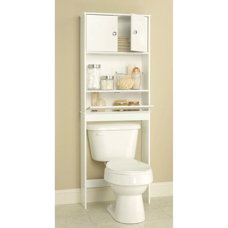 bathroom over the toilet storage cabinet amazoncouk kitchen home - Over Toilet Shelf