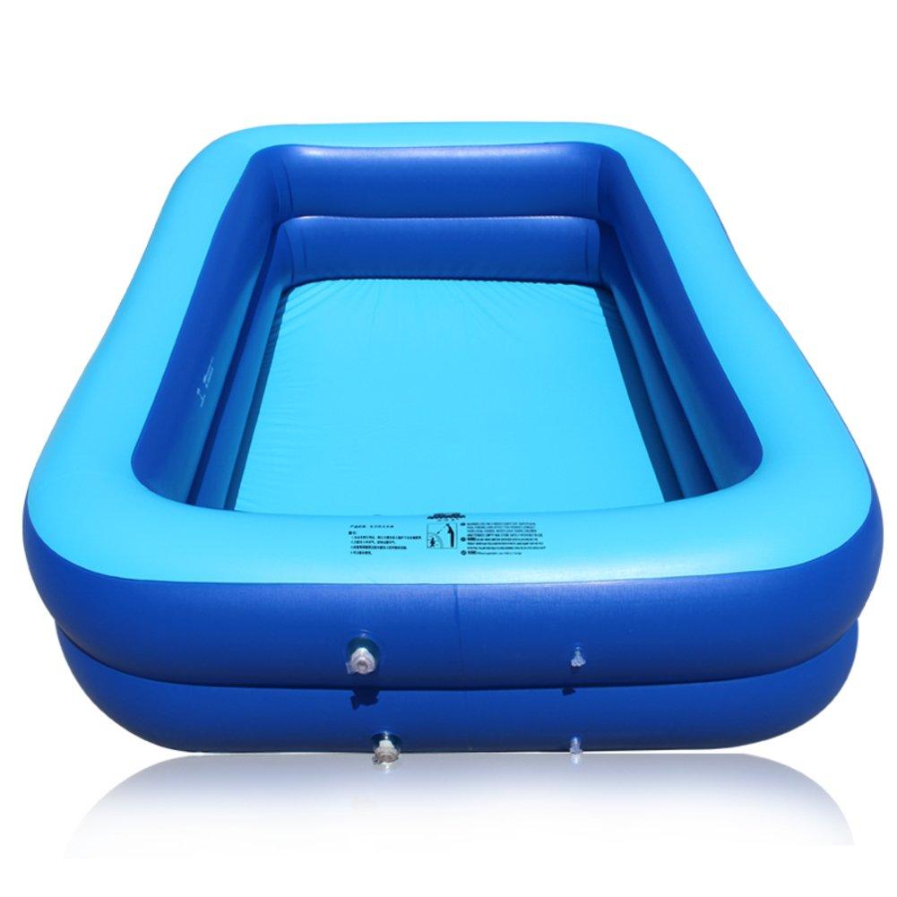 Aufblasbare gepolstert angehoben Planschbecken/Großer eckiger Pool für Erwachsene der Familie/Die großen Kind Kleinkind marine Bällebad-B