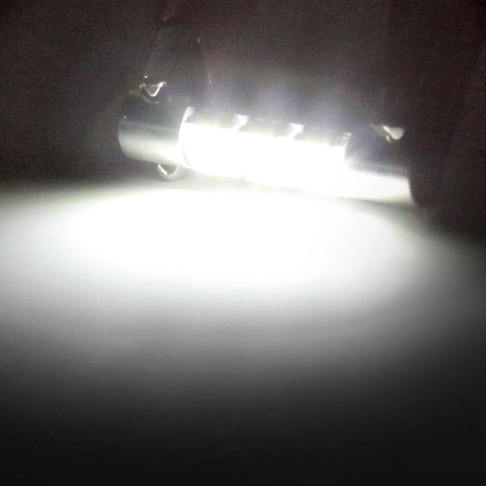 cciyu 29-31mm Festoon LED Bulbs 3-5050-SMD Super Bright White Interior Car Lights DE3175 DE3021 DE3022 3021 5730 3175 6614 6428 7065 fit for Dome Map Door Light Courtesy Light Bulb Pack of 4
