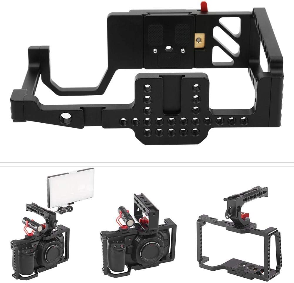 1//4 3//8 Hole Bracket External Monitor//Microphone//Fill Light for BMPCC 4k Camera Vbestlife Video Camera Metal Cage