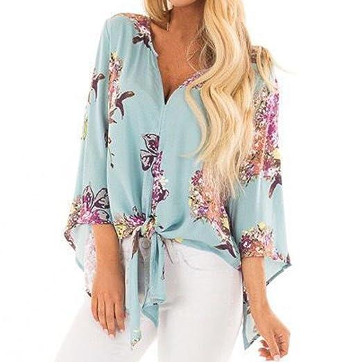 bf66f40a4c5dc Amazon.com  UONQD Women Print Fashion V-Neck Bllouse Blouse Tank Tops   Clothing