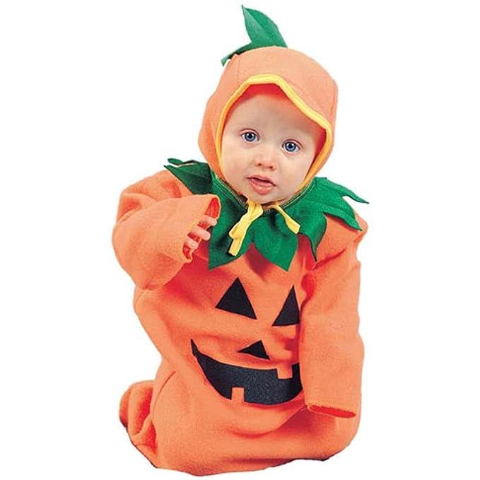 amazoncom classic newborn baby pumpkin halloween costume clothing