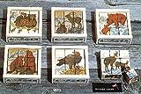 Atelier Fischer Wooden Block Cube Puzzle in Wooden Case - Wild Animals (9 Pieces)