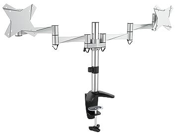 RICOO Support PC pour 2 ecrans TFT TS3311 double bras orientable inclinable  TV sur pied meuble 1a74e747e373