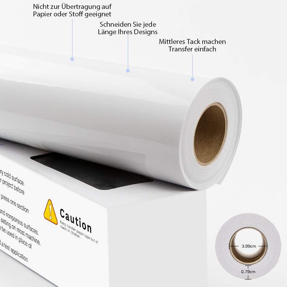 Pellicola di trasferimento trasparente plotter per cartelli adesivi porte e finestre Pellicola di trasferimento per plotter 30,5 cm x 6,09 m per vinile decalcomanie pareti