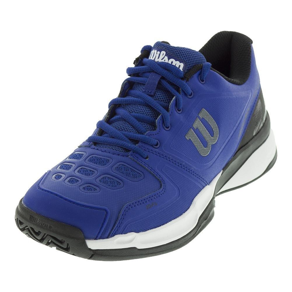 Wilson Men`s Rush Comp Tennis Shoes Mazarine Blue and Black-() B077J2MTZG 8 D(M) US|Mazarine Blue/Black/White