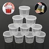 5255bb741de6 Amazon.com: Yosoo Bulk Disposable Plastic Chutney Cups with Lids ...