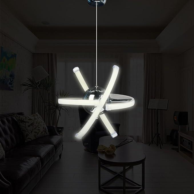 Amazon.com: ELINKUME 23 W LED de techo colgante, moderna ...