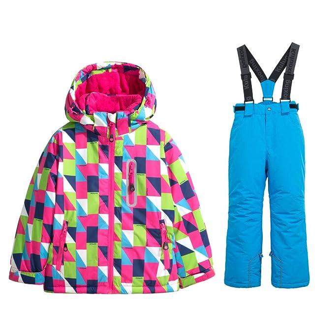 Amazon.com: Chaqueta de esquí para niña, pantalones de nieve ...