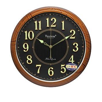 Vosarea 1pc Fuerte Resplandor Luminoso en la Oscuridad Redonda Reloj de Pared Dormitorio Sala de Estar creativos Simples Relojes de Pared Decorativos no ...