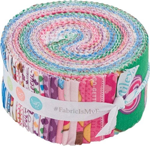 Girl Scouts Rolie Polie 40 2.5-inch Strips Jelly Roll Riley Blake Designs (Jelly Clock)