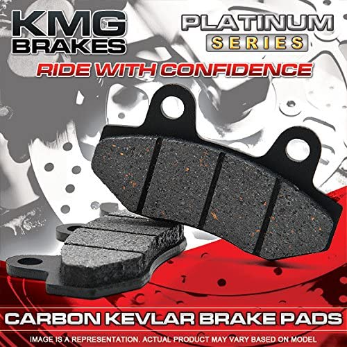 Rear Brake Pads for 2005-2007 Harley FLSTN FLSTNi Softail Deluxe KMG Front Non-Metallic Organic NAO Brake Pads Set