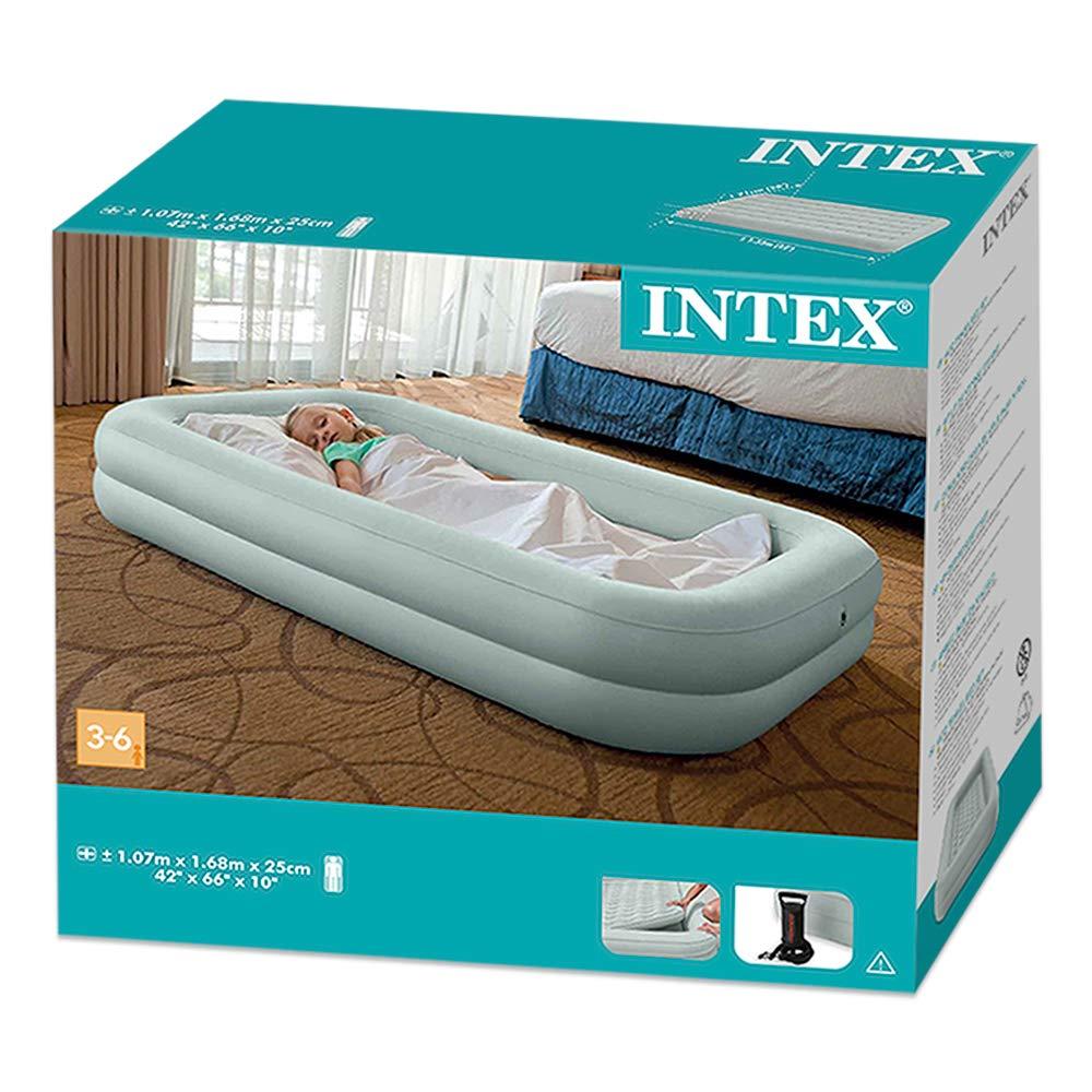 Intex 66810NP - Colchón hinchable infantil e hinchador - 107 x 168 x 25 cm (66810) (modelo variable según imagen), pvc
