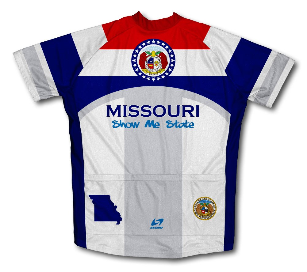 Amazon.com   ScudoPro Missouri Flag Short Sleeve Cycling Jersey for Men    Clothing e051a2ab5