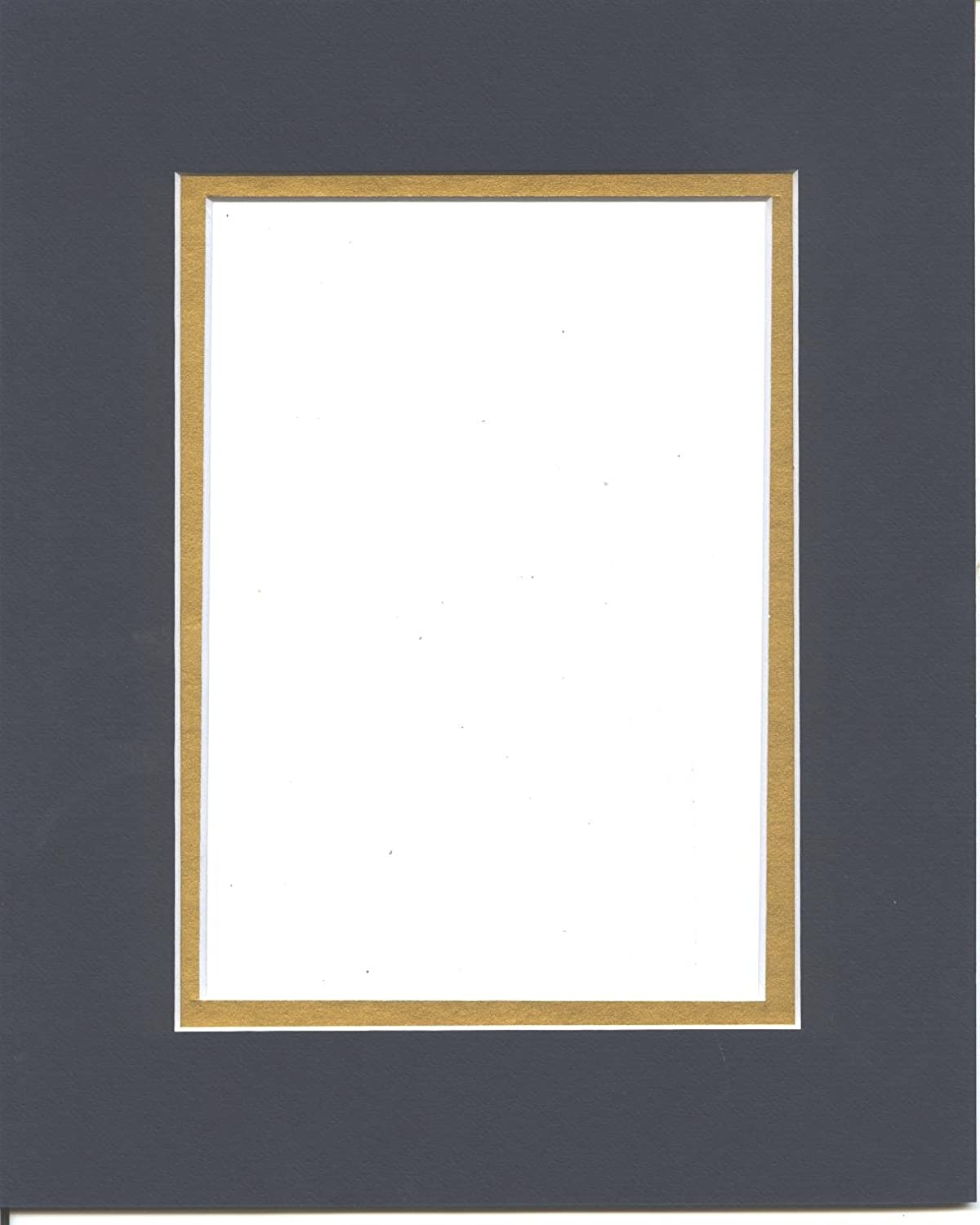 18x24 Navy Blue /& Gold Double Picture Mats Bevel Cut for 12x18 Pictures