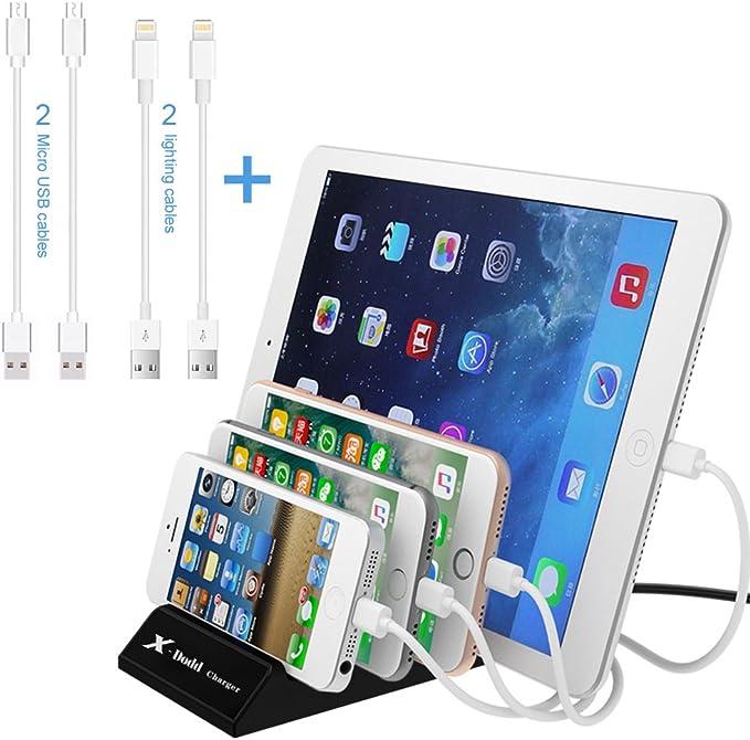 Estación de Carga USB 4 Puertos USB Multi-Cargador Universal 2.4A ...