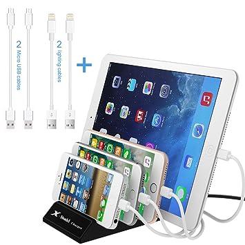 Estación de Carga USB 4 Puertos USB Multi-Cargador Universal 2.4A Cargador Integrado IC Rápido para El Iphone Ipad Smartphones Tabletas Samsung Galaxy ...