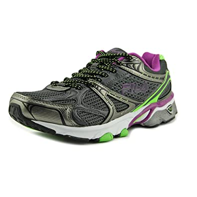 Fila Women's Exodus Running Shoe, Dark Shade/Green Gecko/Purple Cactus  Flower,