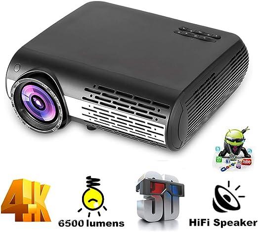 LQQZZZ Proyector para El Hogar, 4K 1080P Proyector Full HD 6500 ...