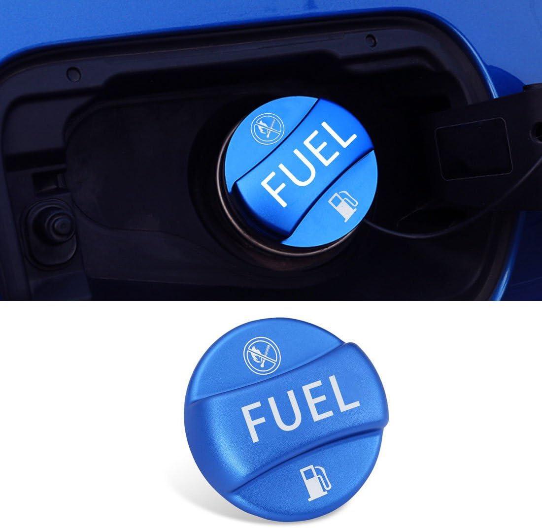 For BMW Fuel Cap Cover,Jaronx Aluminum Metal Gas Tank Fuel Filler Cap Cover-NOT Full Assembly (Fits: BMW 1 2 3 4 5 6 7 X1 X3 X4 X5 X6 Z series) (Bright Blue)