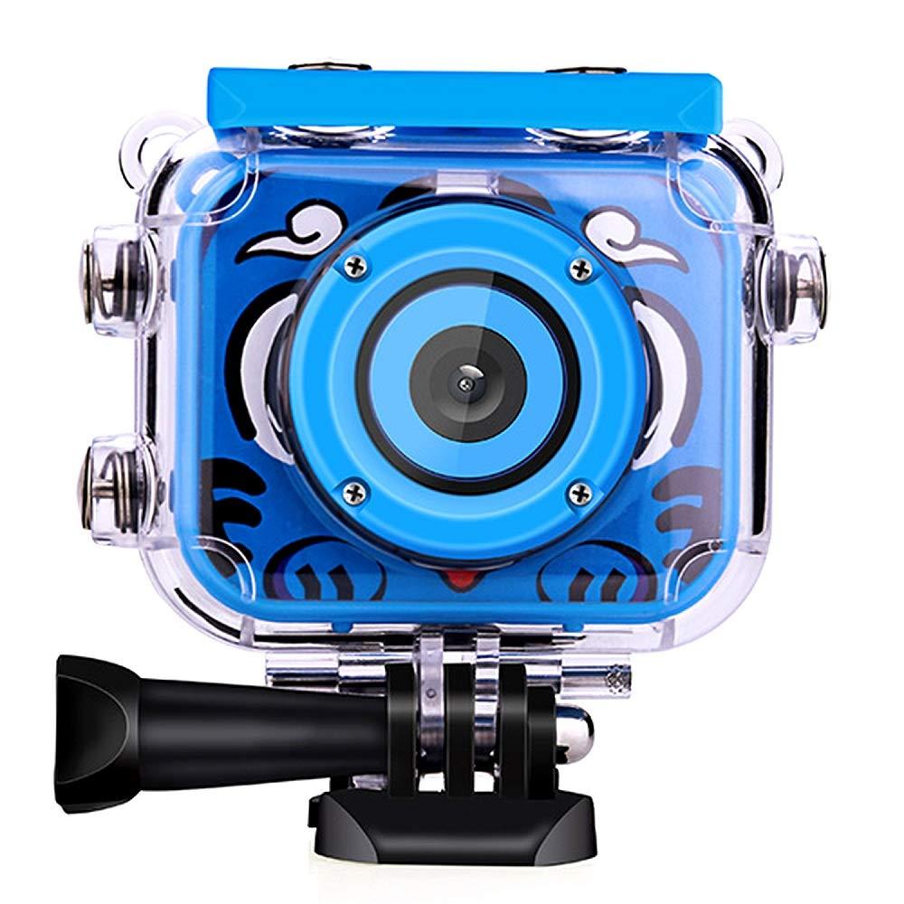 Posiveek Children Kids Camera Waterproof 100FT HD Action Camera 1080P 12MP Sports Camera Camcorder 2 inch LCD Screen (Blue) by POSIVEEK (Image #1)