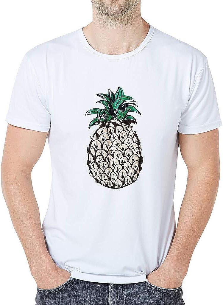 Sylar Camisetas Basicas Hombre Manga Corta Camisetas de Cuello Redondo T-Shirt con Patrón de Frutas Originales Casual tee Tops de Verano Playera