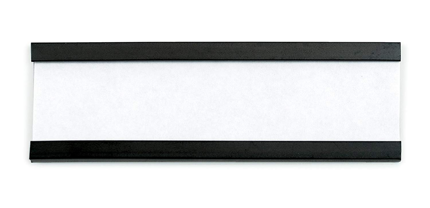 Aigner Magnetic Shelf Label Holder with Inserts 1/2'' H x 3'' W 26/pkg