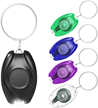 Colorful Super Bright Mini Portable LED Camping Flashlight Keychain LED Light