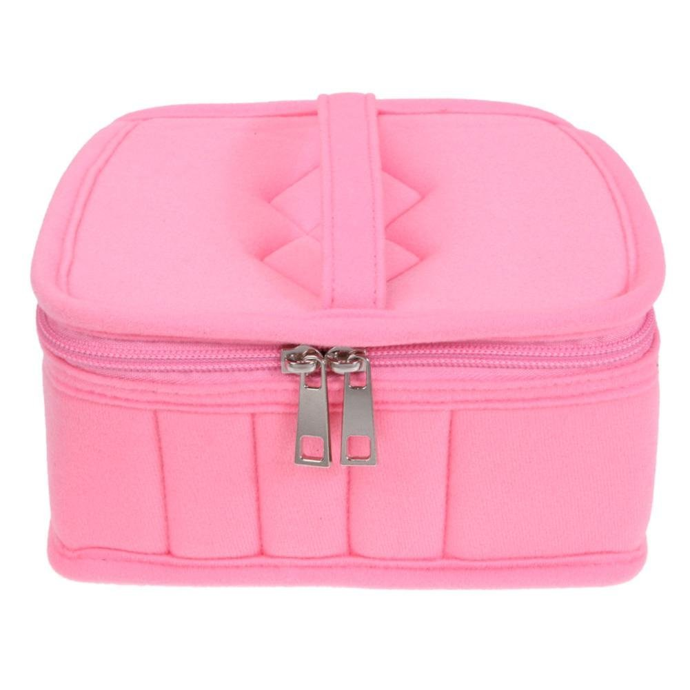silverone 20+1 Bottles Essential Oil Carrying Case for 5ml,10ml,15ml and One 120ml Bottle with Handle Portable Essential Oils Storage Bag for Traveling(Pink)