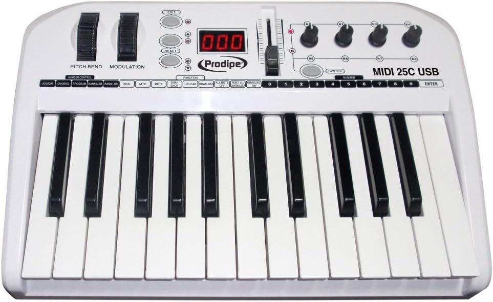PRODIPE 25C Master Keyboard USB e MIDI con tasti semip ...