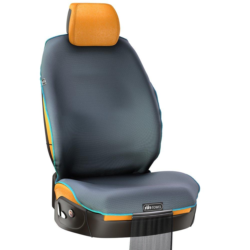 Funda ajustable para el asiento del coche de microfibra, protector del asiento de secado rá pido y silicona absorbente, seguro e inodoro, de ajuste universal. Funda protectora de asiento lavable y con bolsa de almacenamiento por TiiL (Gris Pizarra)