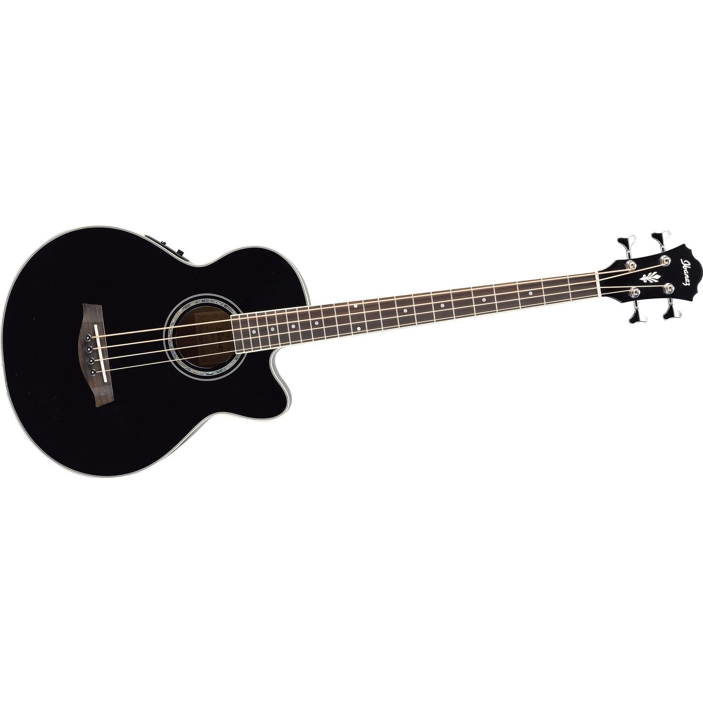 ibanez aeb10ebk acoustic electric bass black musical