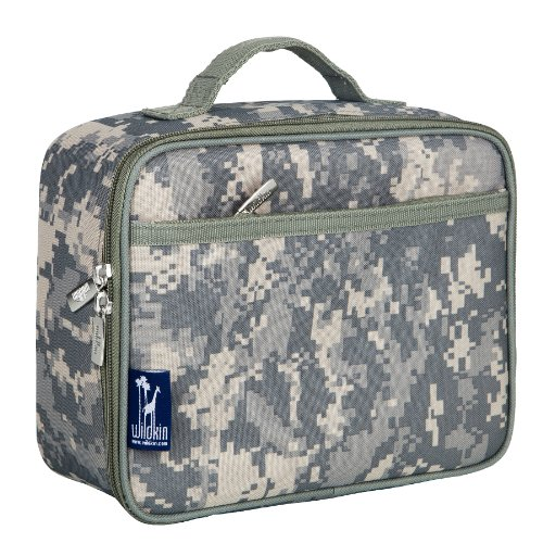 Lunch Box, Wildkin Lunch Box, Insulated, Moisture Resistant, and Easy to Clean with Helpful Extras for Quick and Simple Organization, Ages 3+, Perfect for Kids or On-The-Go Parents – Digital Camo